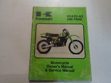 1981 Kawasaki KX420-A2 UNI-TRAK Motorcycle Owners & Service Manual WATER DAMAGED