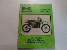 1981 Kawasaki KX420-A2 UNI-TRAK Motorcycle Owners & Service Manual WATER DAMAGED