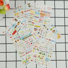6X/Set simple vida pegatina para DIY Scrapbook planificador tarjeta de ha*ws