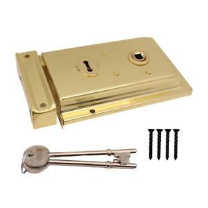 Brass Rim Lock Sashlock Surface Face Door Mounted Sash Lock Traditional Vintage