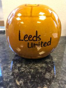Leeds United Football Design Piggy Bank Money Box Xmas Gift LUFC Ceramic Brown