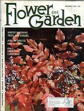 Flower And Garden Magazine November 1970 African Violets VG w/ML 090916jhe