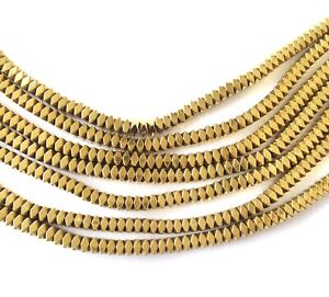 Amazing Bright Brass faceted spacer Beads