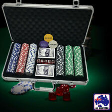 Pro Casino Poker Set 300 Chips w/ Carry Case Dice Card Gambling Game GSPO96999