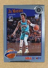 2019/20 NBA HOOPS PREMIUM STOCK JA MORANT TRIBUTE BASE ROOKIE GRIZZLIES 297