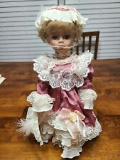 Vintage Doll on Stand