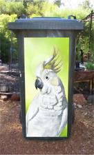 Yellow crested cockatoo wheelie bin sticker