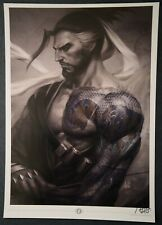 Overwatch Blizzard Hanzo Print signed by Stanley Artgerm Lau