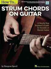 How To Strum Chords On Guitar Step-by-Step Beginners MUSIC BOOK ONLINE AUDIO