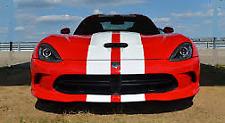 "WHITE Twin Body Stripes Viper Style 4m(13')x15cm(6"") fits TOYOTA"