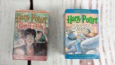 Harry Potter Audio Book Cassette Tapes prisoner of Azkaban + The Goblet Of Fire