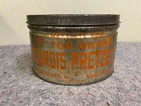 Antique Sturgis Pretzel 2 Lb. Tin-Victor Brand-Reading, PA
