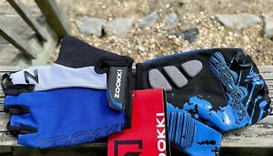 Zookki Bicycle Fingerless Riding  Gloves Size Medium Padded Palm These Are*NWT*