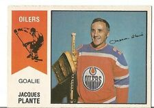JACQUES PLANTE OILERS 1974-75 O PEE CHEE OPC CARD #64 VINTAGE