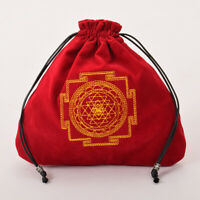 1PC Tarot Mini Bag Case Drawstring Bag Red Tarot Cards Wicca Pagan Storage