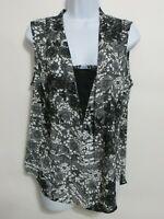 Stitch Fix Daniel Rainn Women's black white Sleeveless Blouse Size M