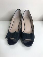 Lotus Navy Blue Open Toe Womans Heels Size 5