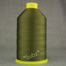 BONDED NYLON SEWING THREAD 40s TKT LARGE 3,500mtr SPOOL OLIVE 40 LEATHER REPAIR