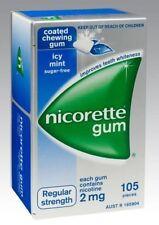 Nicorette Regular Strength 2mg Chewing Gum Icy MINT 105