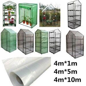 Transparent Plastic Greenhouse Poly Film Polytunnel Hot House Cover Various