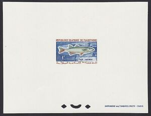 Mauritanie 1964 Scott 177 Deluxe proof sheet STRIPED MULLET Fish...........X2270