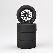 4 pcs Car Foam Tires & Rims Set 12mm Hex Fit 1/10 On-road RC Competition 23002