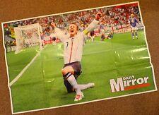 Enorme David Beckham Inghilterra POSTER-originariamente fornito con il Daily MIRROR