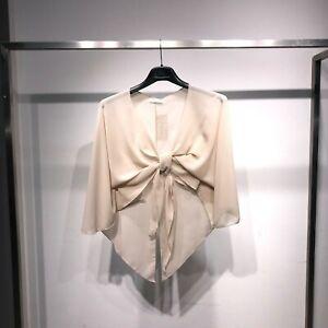 Giacca giacchetto donna corto bolero coprispalle elegante chiffon nuovo  2645-AA