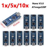 1-10X V3.0 ATmega328P Kontroller Kompatibel fuer Arduino Nano CH340 USB Nano