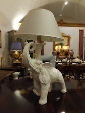 Lampada antica  vintage originale anni 50 in ceramica con elefante