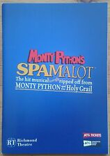 Monty Python's Spamalot programme Richmond Theatre 2015 Joe Pasquale Todd Carty