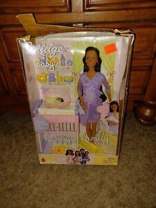 MIDGE BABY HAPPY FAMILY AA PREGNANT BARBIE DOLL SET 2002 MATTEL NIB!