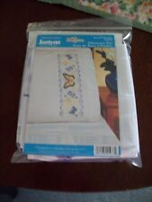 Janlynn Pansies & Butterfly Pillow Cases Stamped Cross Stitch Kit 021-0937