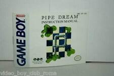 MANUALE PIPE DREAM INSTRUCTION MANUAL GAMEBOY EDIZIONE AMERICANA GD1 36869