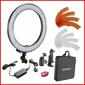 Neewer 18-inch Outer Dimmable SMD LED Ring Light Kit with Light Stand Bluetooth