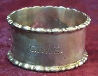 Hallmarked silver vintage Art Deco antique napkin ring