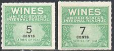 Sc#Re117 & Re119 - 5c & 7c - Internal Revenue Cordial & Wine Stamps Ngai Mnh