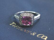 Tiffany & Co Platinum Pink Sapphire Diamond Legacy Ring 1.64Ct+.41Ct