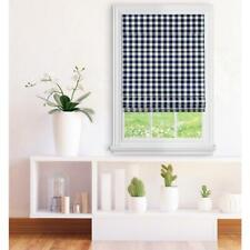Achim Navy Cordless Light Filtering Easy Care Polyester Roman Shades 35 x 64in
