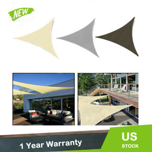 160 GSM Triangle Sun Shade Sail Outdoor Garden Pool Canopy Cover Equilateral