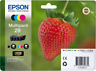 PACK DE QUATRE CARTOUCHE EPSON 29 NOIR MAGENTA CYAN JAUNE / fraise 29 noire bleu