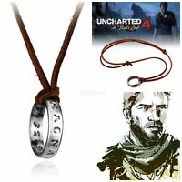 Uncharted Nathan Drake's Ring Necklace Pendant Cosplay Gaming PS4