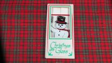 Vintage Christmas on Glass, Frosty the Snowman, Erie Scientific, Portsmouth Nh