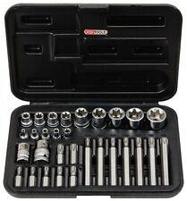 KS TOOLS TORX tx-steckschlüssel- et bit-adapter-satz, 30 pièces Boîte de noix