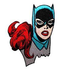 Batgirl Superhero Girl Close-Up Patch Batman Comics Character Iron-On Applique
