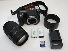 Pentax K100D DSLR Camera 6MP Shake Reduction w/Tamron AF 70-300mm TeleMacro Lens