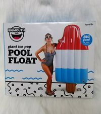 "BigMouth Ice Pop Giant 5 FT 10"" Inflatable Swimming Pool Float Raft New"