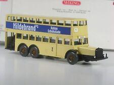 TOP: Wiking Serienmodell Doppeldecker Bus D38 BVG Berlin Hildebrand Schokolade