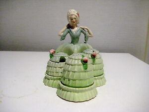 Rare Art Deco Carlton Ware  Crinoline Lady Cruet Set