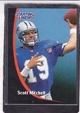 1998 Scott Mitchell - Starting Lineup Card - Slu - Detriot Lions